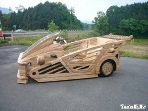 Деревянной машины с мотором
