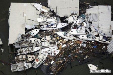 Чудовищные последствия удара урагана Айк
