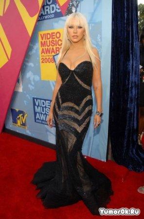 Christina Aguilera на награждении MTV