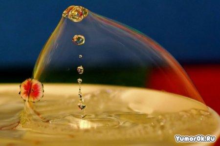 Как падает вода