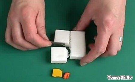 Инструкция как сделать поддельный апельсин