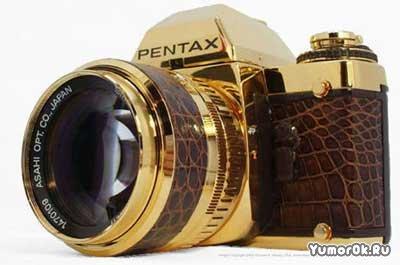 Золотой фотоаппарат Pentax