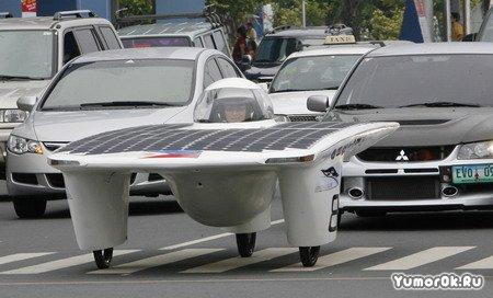 Машина на солнечных батареях