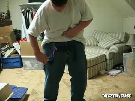 Неудачно поджег штаны