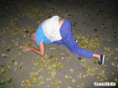 Фотожаба на пьяного чудака