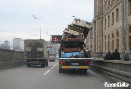 Опасная перевозка машин