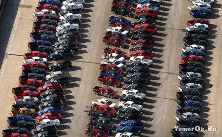 Продажи машин во время кризиса