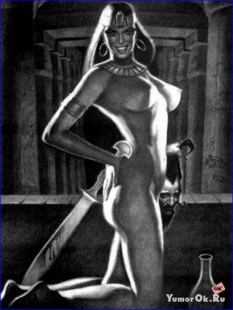 Рисованная эротика на тему древнего Египта