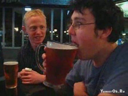 Бокал Пива за пару секунд