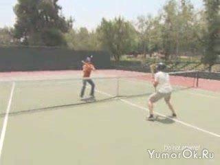 Теннис бейсбольной битой