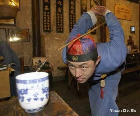 Как наливают чай в Китае