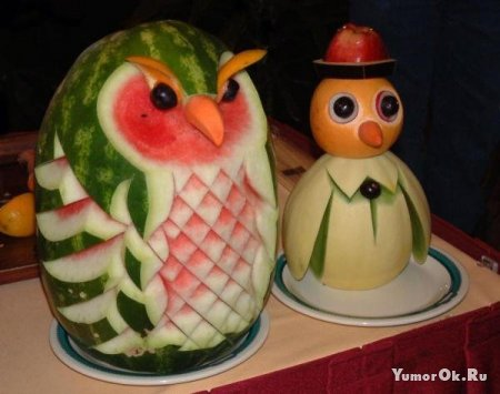 Резьба на овощах и фруктах