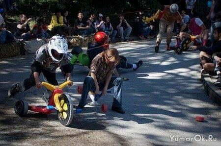 Гонки на детских велосипедах