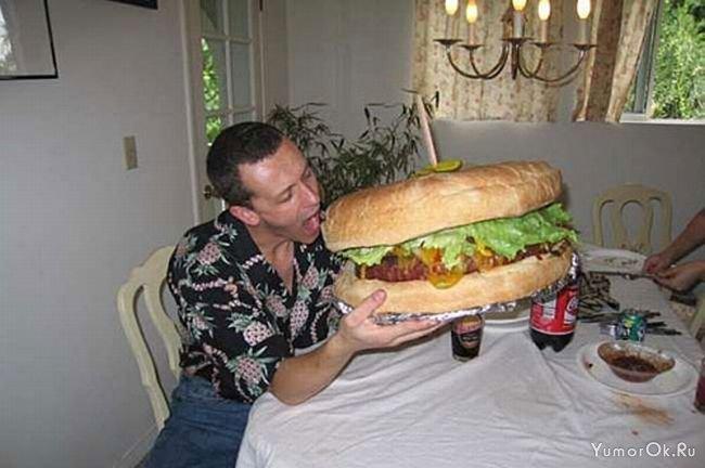 """Хороший гамбургер """" YumorOk.Ru"""