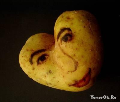 Лица на картошке