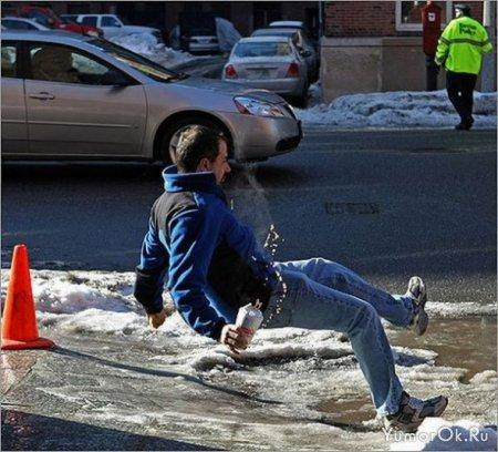 Подловил фотограф падающего