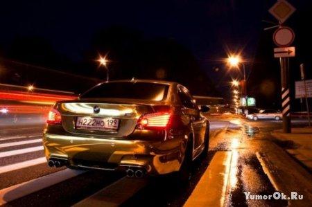Золотая BMW