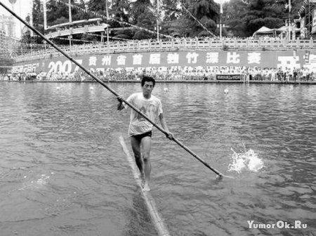 Плавание на бревнах