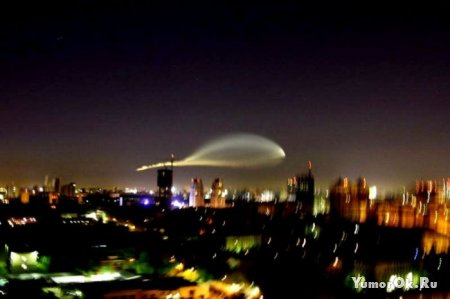 Странный объект над Москвой