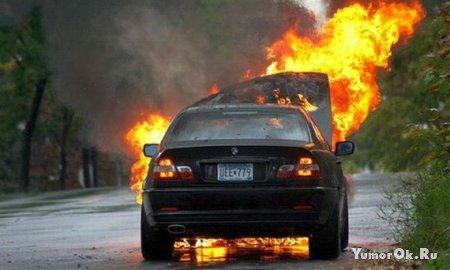 Машины горят как дрова