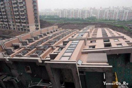 В Китае рухнул дом