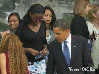 Обама и Саркози засмотрелись на задницу