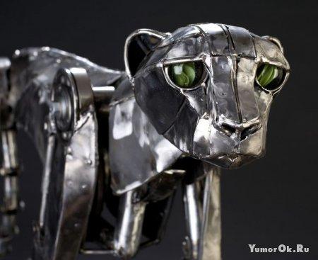 Леопард в стиле  стимпанк