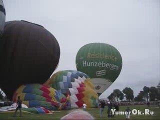 На фестивале во Франции шар полетел на зрителей