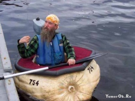 Лодка из тыквы