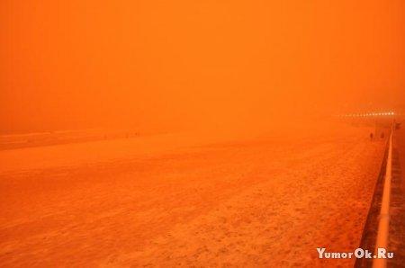 Песчаная буря в городе