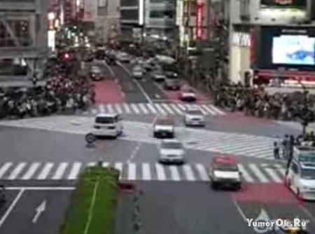 Перекрёсток в Японии