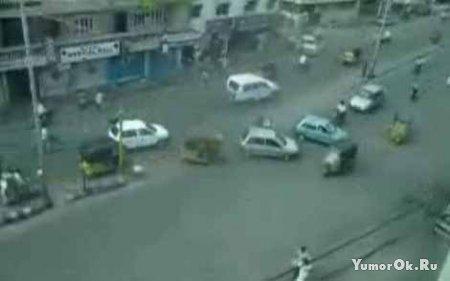 Перекрёсток в Индии