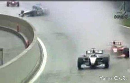Авария на одном из этапов Ф1