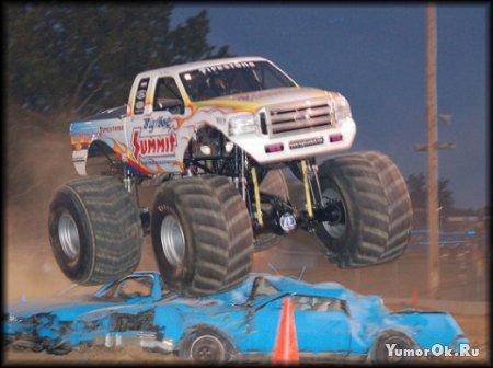 Машинки с большими колёсами