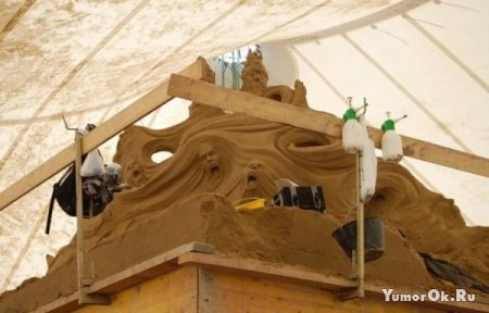 Удивительное творение из песка