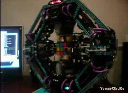 Робот который может собрать кубик рубик