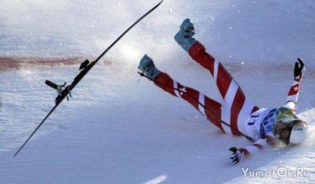 Падения лыжниц в Ванкувере