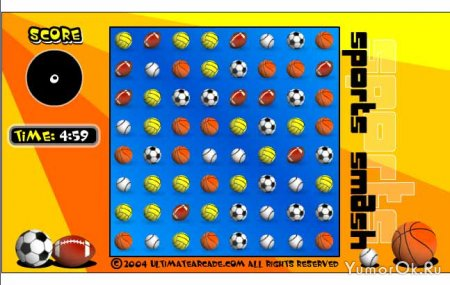 Мячики вряд (balls row)