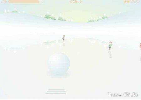 Снежный боулинг (snow bowling)